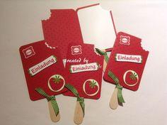 Toll Einladungskarten Eis Am Stiel Erdbeere