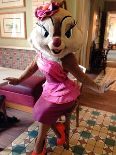 Clarice is the most glamorous chipmunk, she is never shy for the camera! #Disney #DisneylandParis #Disneyland