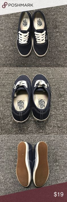 Navy Blue colored Vans Good gently used condition Vans Shoes Sneakers