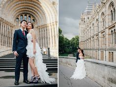 engagement pre wedding photographer London Kensington Natural history museum rainy day couple  (25)