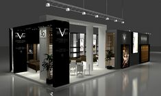 versace concept Frankfurt on Behance Exhibition Stall Design, Showroom Design, Cafe Design, Exhibition Stands, Exterior Wall Cladding, Nordic Furniture, Boutique Interior, Small Buildings, Environmental Design