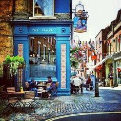 """""""The Flask""""- Hamstead Street, London Flask Walk is a pedestrian alleyway just off the street,  keeping a quirky, independent identity."""