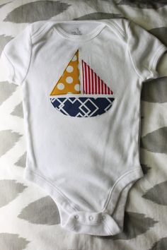 Sailboat Applique Onesie