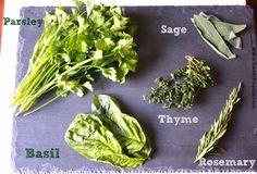 Sweet Foodie: How to Chop Herbs