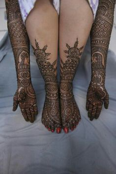 mehendi Indian bridal's real ornament