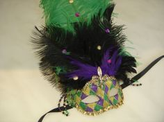 Mardi Gras Venetian Mask on Etsy, $75.00