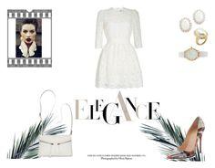 """Elegance(?)"" by rarah-chan on Polyvore featuring moda, Alexander McQueen, Christian Louboutin, Bueno, Kenneth Jay Lane e Vivani"