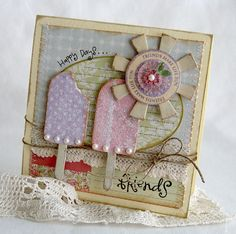 shabby chic popsicle