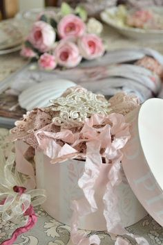 Vintage Ribbons and Lace