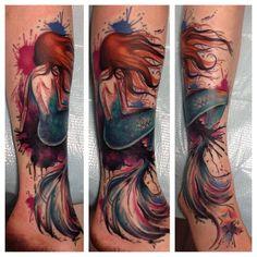watercolor tattoo mermaid - Google-haku