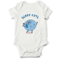 Baby girl onesie - Berry cute Blueberry baby romper, baby girl shower gift, unique shirt for girl, cute gift for baby girl, girl clothes by OldCauldronGifts on Etsy