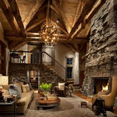 Rustic Great Room Family Room Design Ideas, Remodels & Photos