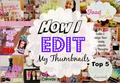 How I Edit My Thumbnails 2015   Asia Jade