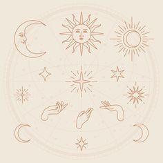 Astrological Elements, Luna Tattoo, Witch Tattoo, Cute Tiny Tattoos, Simplistic Tattoos, Tattoo Project, Desenho Tattoo, Minimal Tattoo, Beige Background