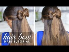 Easy Girls Hairstyles : How To Make A Bow In Your Hair? Follow this Making Hair Bows Tutorial