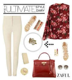 """Zaful 31"" by sabinakopic ❤ liked on Polyvore featuring Phase Eight, Hermès, Sergio Rossi, Prada, Yves Saint Laurent, Monet, Stila, bestylish, zaful and lovezaful"
