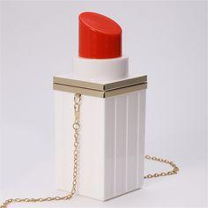 $27.49 (Buy here: https://alitems.com/g/1e8d114494ebda23ff8b16525dc3e8/?i=5&ulp=https%3A%2F%2Fwww.aliexpress.com%2Fitem%2FBlack-Acrylic-Lipstick-Clutch-Bag-Evening-Party-Hand-Bag-Small-Chain-Crossbody-Bag-White-Gray-5109%2F32661190800.html ) Hot Sale Fashion Personality Girls Lipstick Shape MINI Shoulder Messenger Bag High Quality Evening Bags Hasp Clutch Women for just $27.49