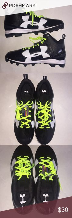 0a178a875 Under Armour football cleats Size 16 Color  Black Gray Brand  Under Armour