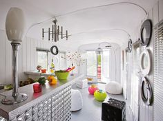 French Bohemian Trailer  Interior