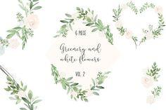 Greenery & White Valentine Day VOL2 by DailyMiracleDigitals,LLC on @creativemarket