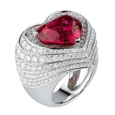 Not usu a heart fan, but I would take this! Cartier Ruby Ring