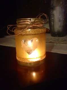 Glitter paper and a candle