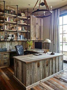 Домашний офис в стиле рустик.