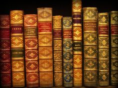 The Fuller View ~ michaelmoonsbookshop:  19th century leather bound books.
