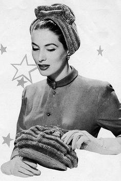 c. 1950 Vintage Knitting Pattern interesting shape?