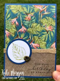 Masculine Creative Showcase with the Art with Heart Team – Kate Morgan, Independent Stampin Up!® Demonstrator Rowville, Victoria, Australia
