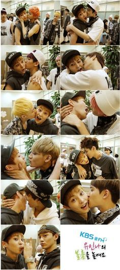 Xiumin's so adorable! The exo members giving a kiss to their oldest hung ^^ <3 #exo #kpop