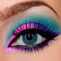 Pink Eye Makeup   Download bright pink blue purple eye makeup I'm going to do this!