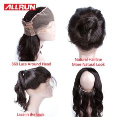58.50$  Buy here - http://alimi9.worldwells.pw/go.php?t=32776325874 - 360 Lace Virgin Hair Brazilian Body Wave 360 Lace Frontal Pre Plucked 100% Human Hair Body Wave Frontal With Baby Hair