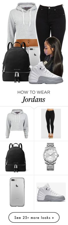 """""""Untitled #34"""" by aaliyah-marie1 on Polyvore featuring Calvin Klein, Boohoo, MICHAEL Michael Kors and NIKE"""