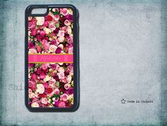 Roses, Floral Phone Case-  iPhone 5s case,  monogram iPhone 6/6 Plus/4/4s/5/5s/5c - Pretty phone case- samsung s5- monogrammed iphone 5 case by SaidTheOwl on Etsy