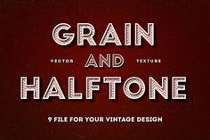 Grain & Halftone Texture by Vintage Voyage Design Co. on @creativemarket