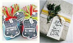 free printable wrapping paper and gift tags