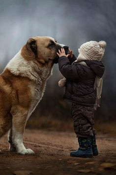 Little boy and his dog <3