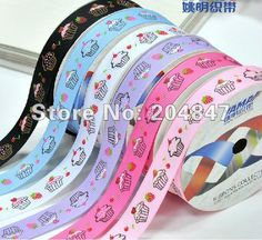 "3/8"" Cupcakes Printed Grosgrain Ribbon  Craft Ribbon    Customized Printed Ribbon 100yards/lot  negotiable price-in Ribbons from Apparel  Accessories on Aliexpress.com $15.47"