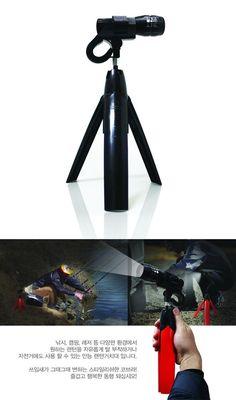 Velcro Q3 Flashlight Stand Camera Tripod Fishing Lamp Light Lantern Stand RED #STANDPLUS