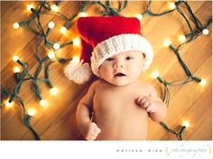 newborn holiday picture for Christmas card
