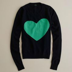 """""""Heart Me"""" Tippi from J. Crew - purchased this weekend at the outlet with a white button-up to go under :)"""