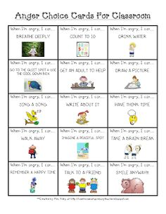 Printables Free Printable Anger Management Worksheets For Kids get your angries out printable play therapy pinterest how confessions of a primary teacher anger choice cards for the classroom