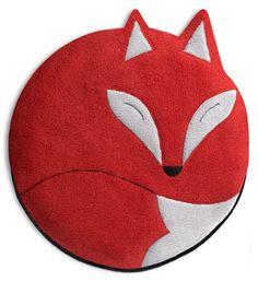 Luca the Fox Heatable Tummy & Body Warmer Pillow: Fire