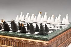 Porcelain chess set