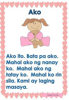 Teacher Fun Files: Tagalog Reading Passages 14 Grade 1 Reading Worksheets, Preschool Worksheets, Preschool Activities, Tagalog Words, Tagalog Quotes, Reading Comprehension For Kids, Reading Passages, Body Parts Preschool, Short Stories For Kids