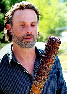 The Walking Dead Season 7 Episode 4 'Service' Rick Grimes and Lucille