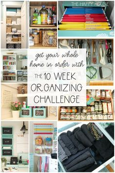 Completely Organize Your Home with the Ten Week Organizing Challenge (The Happy Housie) Kids Bedroom Organization, Locker Organization, Linen Closet Organization, Clutter Organization, Organization Ideas, Declutter Your Home, Organizing Your Home, Organising, Organizing Tips
