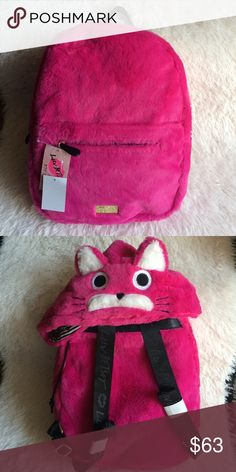 ❤️Betsey Johnson Hoodie Backpack❤️ FINAL PRICE❤️ Cute fluffy backpack. Betsey Johnson Bags Backpacks