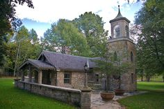 The Stone Cottage is a charming, old-world style building. Cuyahoga Valley National Park